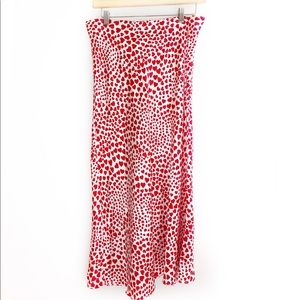 RACHEL ZOE Midi Heart Skirt Size Medium